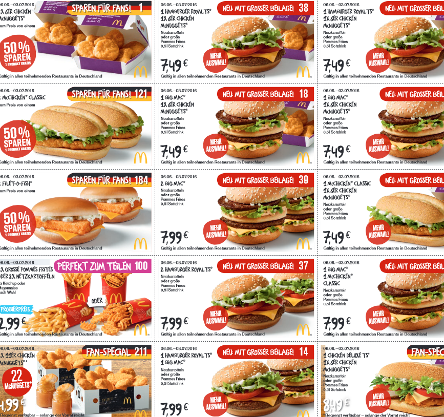 gutschein coupons mcdonalds